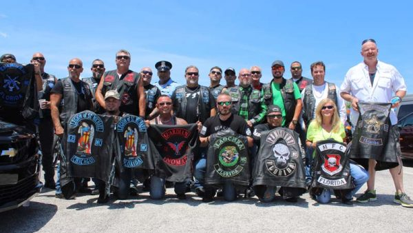"Bikers Hold ""Back the Blue"" Bash to show that BLUE LIVES MATTER Lou's Blues held the"