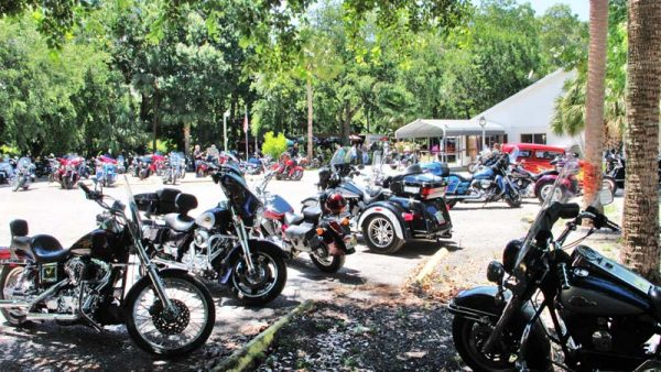 A BENEFIT FOR ANDY ROSS at American Legion Post 359 by Miserable George Riders gathered from miles around to help a fellow biker,