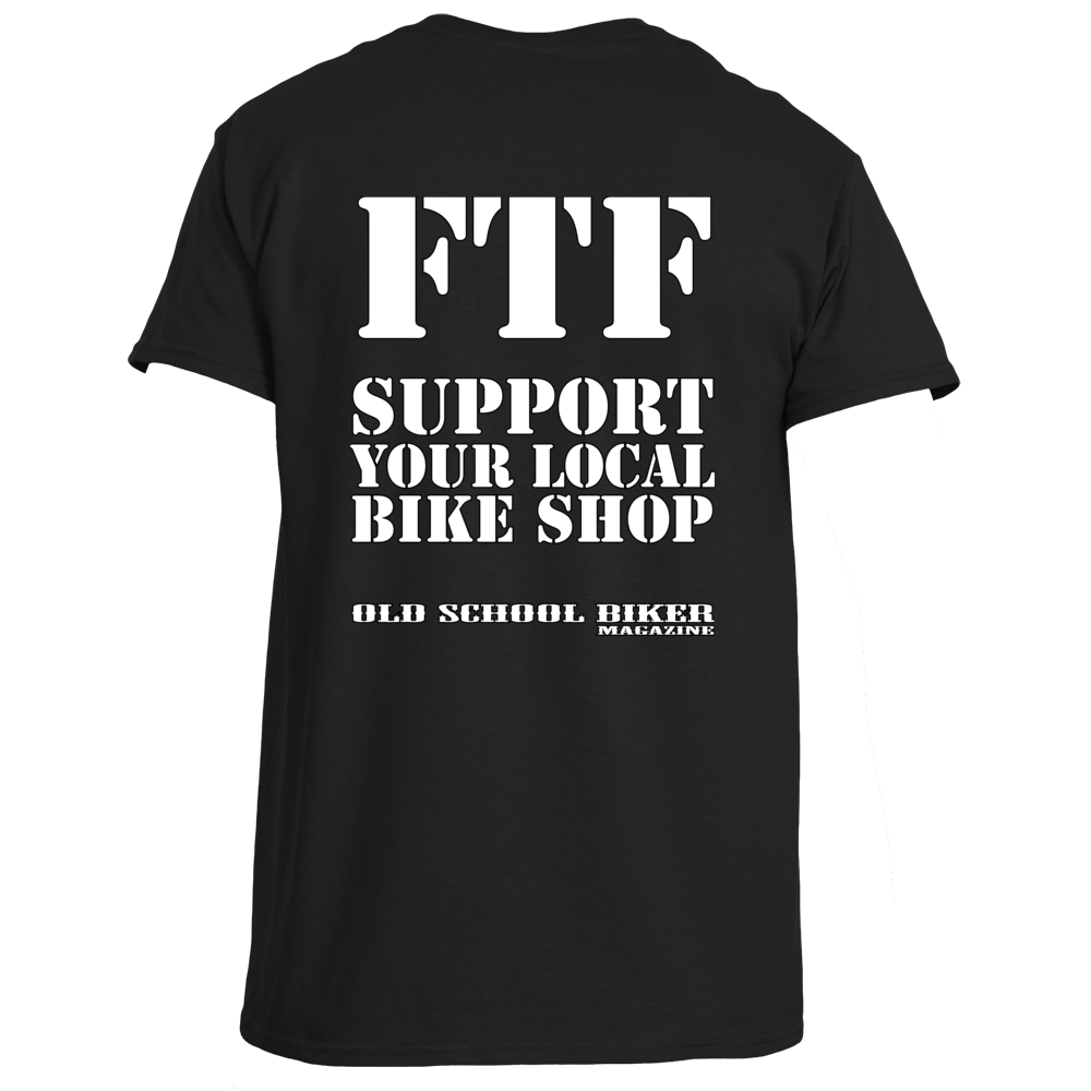 Ftf support you local bike shop t shirt old school biker for Bike and cycle shoppe shirt