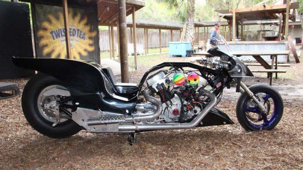 Drag Bike at the Broken Spoke – Daytona Bike Week 2017 by Miserable George
