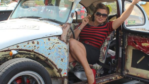 Krissy Foreman and her 1970 VW Bug