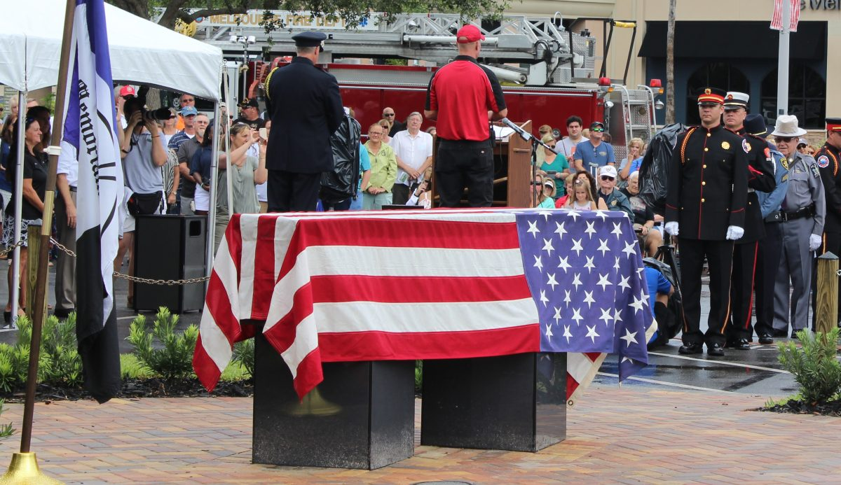 911 Twin Tower I-Beam Escort and Ceremony in Viera by ValGal